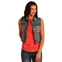Panhandle Slim Women's Rock And Roll Denim Vest