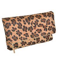 Leopard Half Fold Clutch Purse