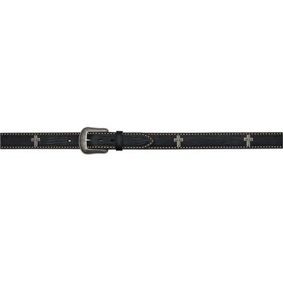 3d Men's Cross Black Western Belt