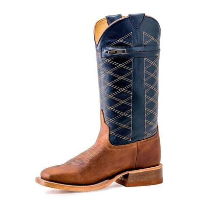 Anderson Bean Boy's Navy Crazyhorse Pocket Boots