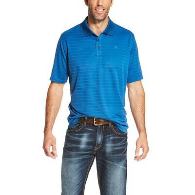 Ariat Men's Earthly Blue Tek Polo Shirt