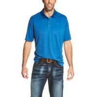 Ariat Men's Earthly Blue Tek Polo Shirt
