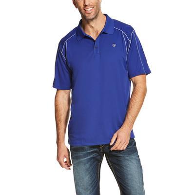 Ariat Men's Blue Frond Ac Polo Shirt