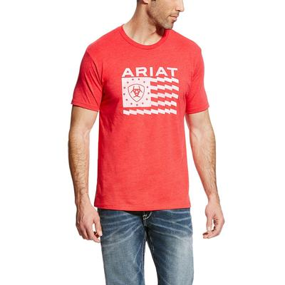 Ariat Men's Red Old Glory T- Shirt