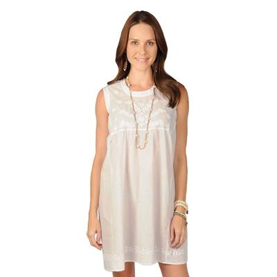 Ivy Jane Women's White Embroidered Dress
