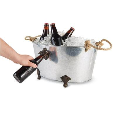 Mud Pie's Footed Bottle Opener Drink Tub