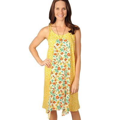 Uncle Frank Women's Mustard Floral Dress