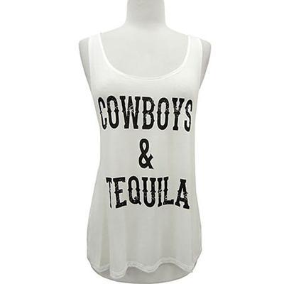 Yahada Women's Cowboys & Tequila Tank Top