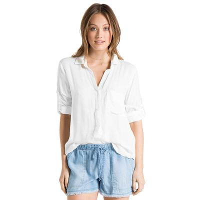 Bella Dahl Women's Long Sleeve Shirt Tail Top