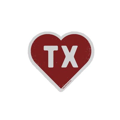 Tumbleweed's TX Heart Sticker