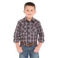 Wrangler Boy's Western Jean Snap Shirt