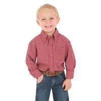 Wrangler Boy's Long Sleeve Riata Button Shirt