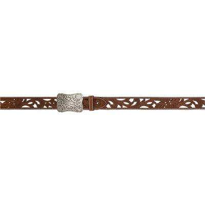 3D Women's Brown Floral Filigree Belt