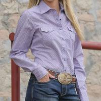 Cinch Women's Lavender Pearl Snap Shirt