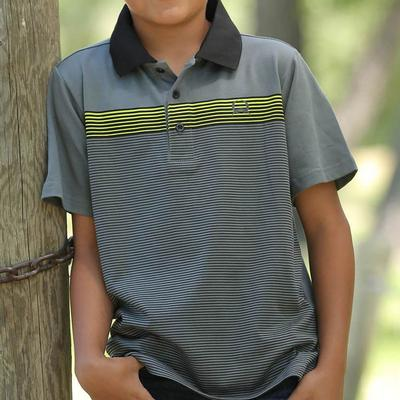 Cinch Boy's Gray Polo Shirt
