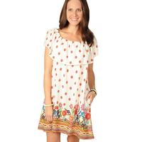 Uncle Frank Women's Off Shoulder Floral Dress