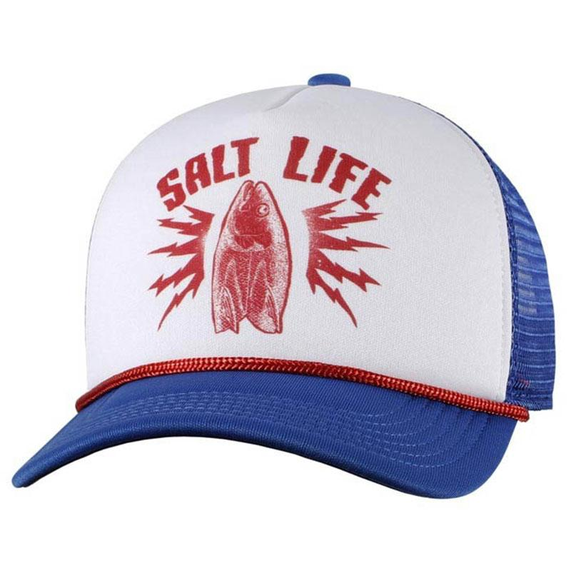 salt life youth electric fish mesh cap item baseball hat