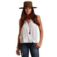 Stetson Women's White Twist Front Top