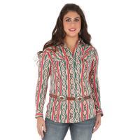 Wrangler Women's Aztec Print Snap Shirt