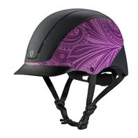 Troxel's Purple Boho Spirit Riding Helmet