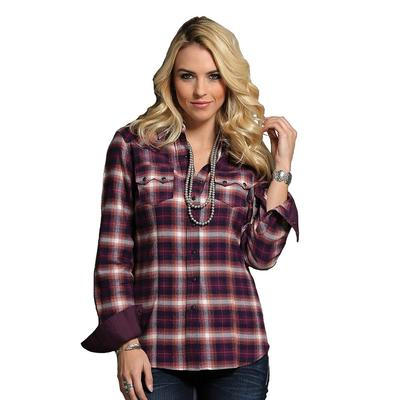 Cruel Girl Women's Brushed Twill Plaid Snap Shirt