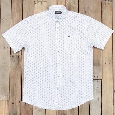 Southern Marsh Men's White Paisley Astor Shirt