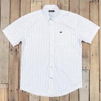 Southern Marsh Men's White Paisley Astor Shirt