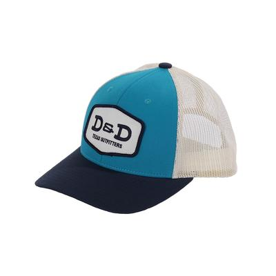 D & D Texas Outfitters Teal Birch Navy Snap Back Cap