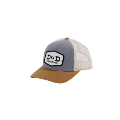 D & D Texas Outfitters Grey Birch Amber Snap Back Cap