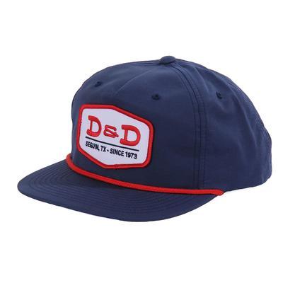 D & D Texas Outfitters Navy Grandpa Pinch Cap