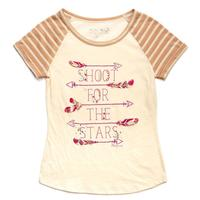 Miss Me Girl's Shoot for the Stars T-Shirt