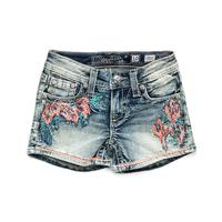 Miss Me Girl's Petal Down Shorts