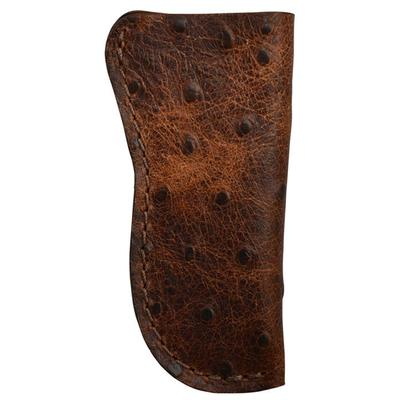 3d Leather Ostrich Print Knife Holder