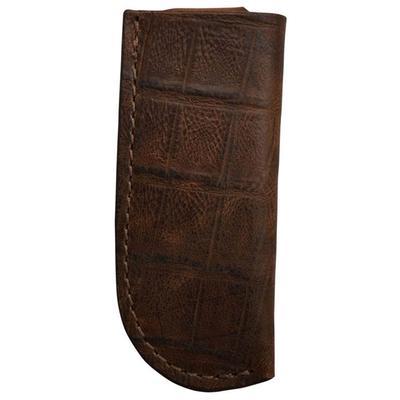 3d Leather Croc Print Knife Holder