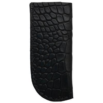 3d Black Leather Croc Print Knife Holder