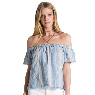 Bella Dahl Women's Fray Hem Off Shoulder Top