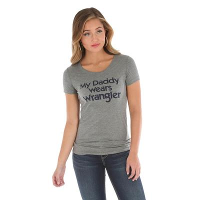 Wrangler Women's My Daddy Wears Wrangler Tee