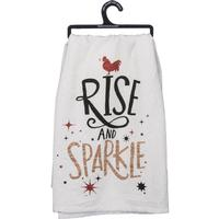Rise and Sparkle Dish Towel