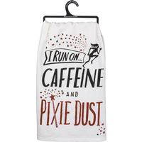 Caffeine and Pixie Dust Dish Towel