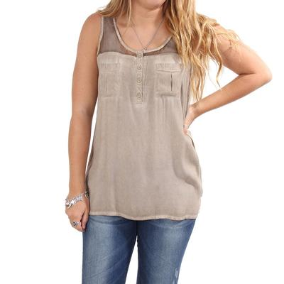 Dear John Women's Light Khaki Jenny Top