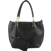 Fashion Quilted 2-in-1 Tote Bag