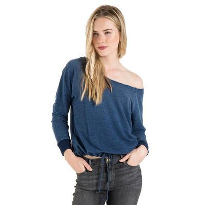 Bella Dahl Women's Raglan Tie Front Sweatshirt