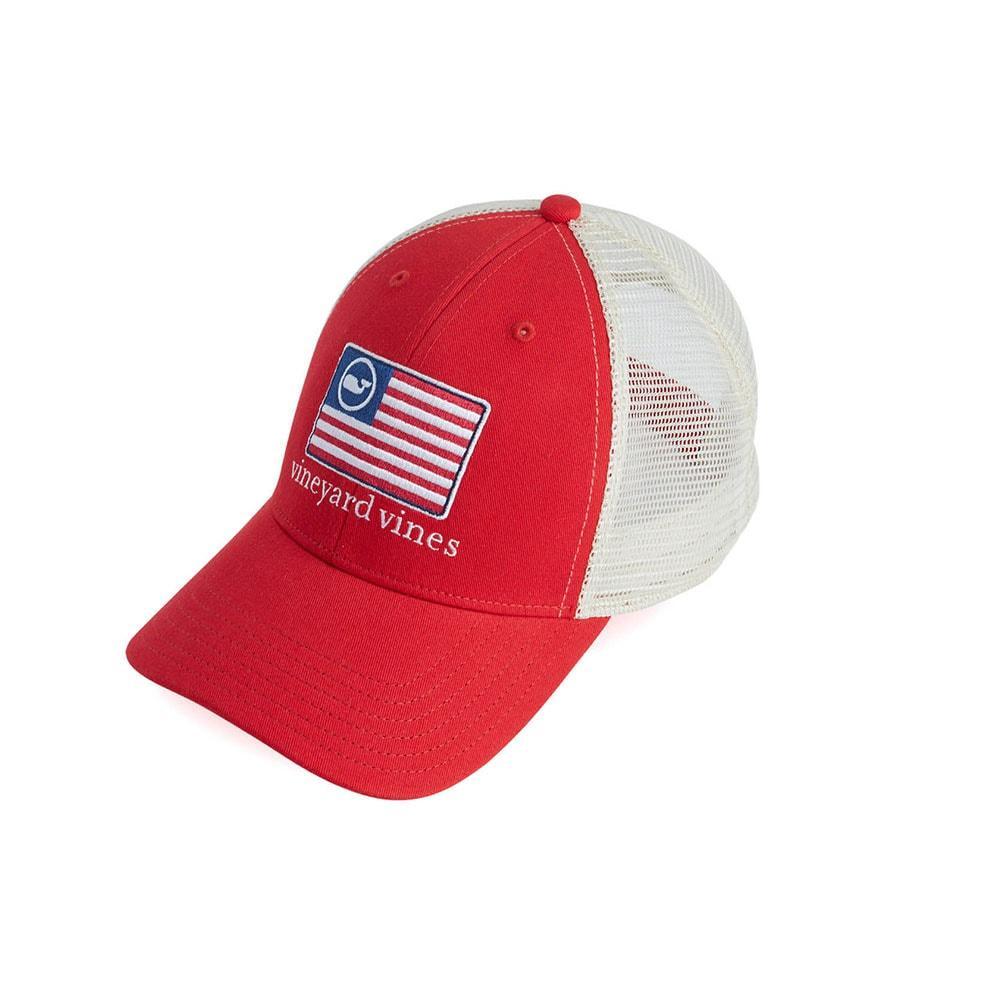 a800e0ea0cb95 ... Vineyard Vines American Flag Whale Line Trucker Cap