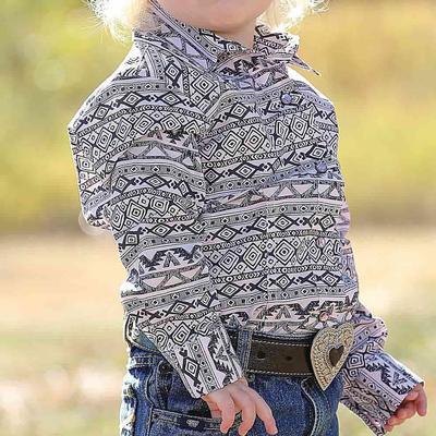 Cruel Girl Southwestern Stripe Youth Snap Shirt