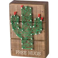 Free Hugs String Box Sign