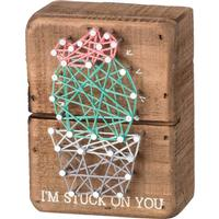 I'm Stuck On You String Box Sign