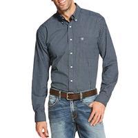 Ariat Men's Long Sleeve Navy Print Button Shirt