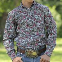 Cinch Boy's Paisley Print Button Shirt