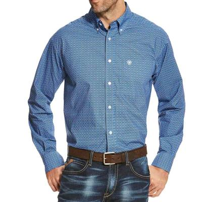 Ariat Men's Long Sleeve Oldham Print Shirt