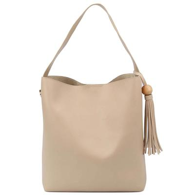 2-Piece Single Strap Slouchy Tote Bag Set TAN